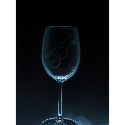 ART-MU-Violon - 1 verre - prix basé sur le verre à vin 20oz