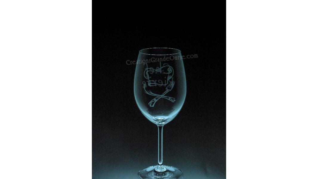 ART-GAS-PERSO-Chef personnalisé nom - 1 verre - prix basé sur le verre à vin 20oz