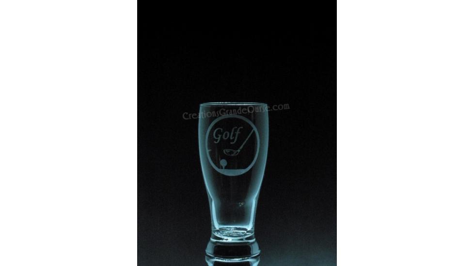 SPO-Golf Baton et tee- 1 verre - prix basé sur le verre à vin 20oz