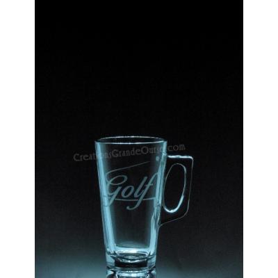 SPO-Golf lettrage et balle - 1 verre - prix basé sur le verre à vin 20oz