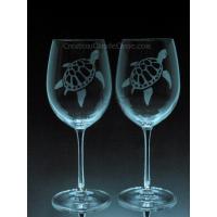 ANI-SM-tortues - Ensemble de 2 - prix basé sur le verre à vin 20oz