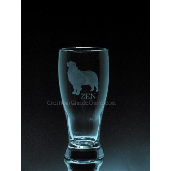 ANI-CK-PERSO-Chien de race Bouvier - 1 verre - prix basé sur le verre à vin 20oz