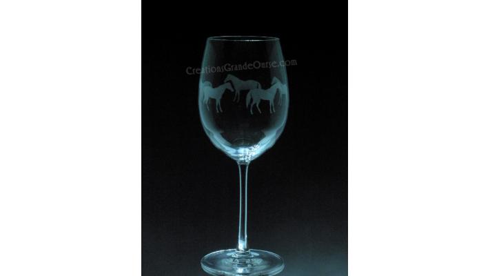 ANI-CV-Cheval étalon tout le tour - 1 verre - prix basé sur le verre à vin 20oz