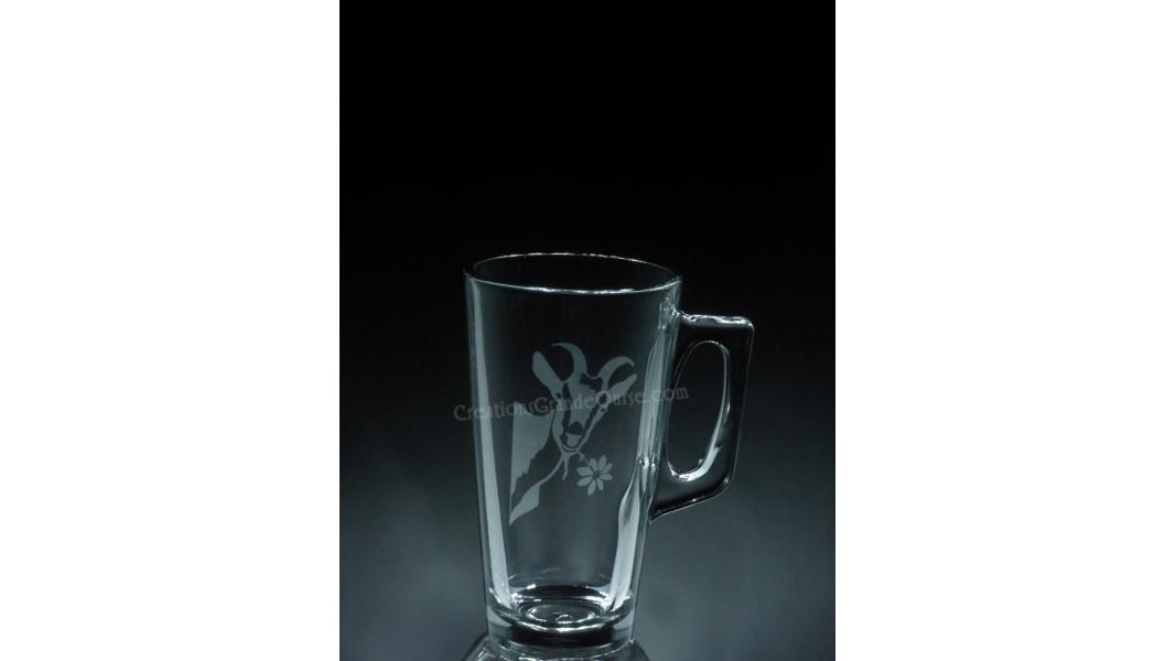ANI-FA-Chèvre-1 verre - prix basé sur verre à vin 20oz