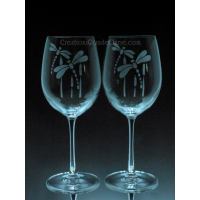 ANI-IN-libellule - 1 verre - prix basé sur le verre à vin 20oz