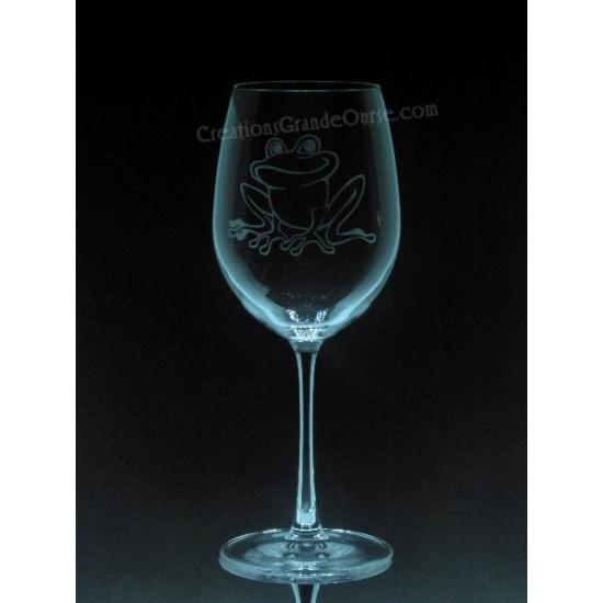 ANI-SM-grenouille - 1 verre - prix basé sur le verre à vin 20oz