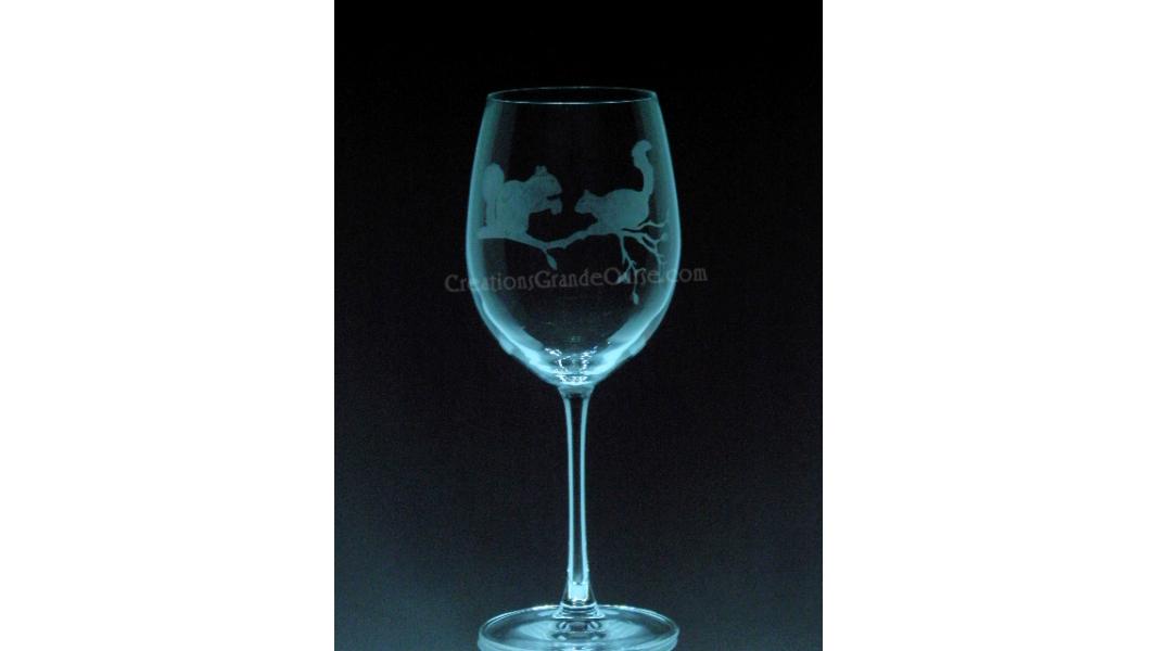 ANI-SW-écureuil-1 verre - prix basé sur verre à vin 20oz