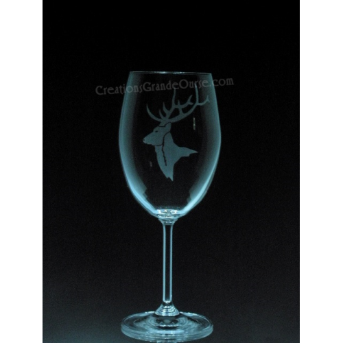 verre vin grav avec design caribou cr ations grande. Black Bedroom Furniture Sets. Home Design Ideas