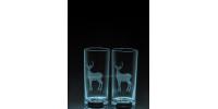 ANI-SW-ours dans rivière-1 verre - prix basé sur verre à vin 20oz