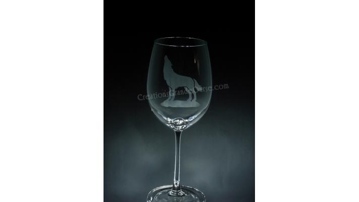 ANI-SW-loup-1 verre - prix basé sur verre à vin 20oz